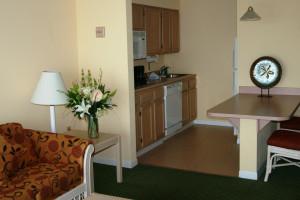 Guest kitchen at Hampton Inn & Suites Islamorada.
