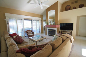 Rental living room at Country Club and Resort Rentals.