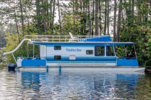 Houseboat exterior at Timber Bay Lodge & Houseboats.