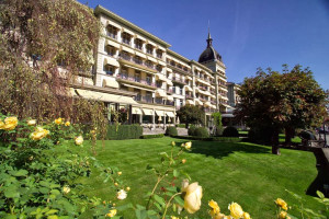 Exterior view of Victoria-Jungfrau Grand Hotel & Spa.