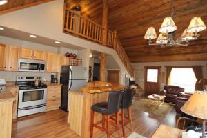 Cabin interior at Glacier Park Vacation Rentals.