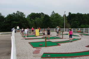Mini golf at Mark Twain Landing.