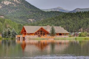 Lake near Colorado Bear Creek Cabins.