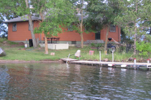 Exterior view of Sams Island Cabin.