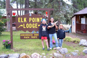 Family at Elk Point Lodge.