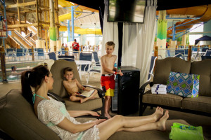 Family lounging at Blue Harbor Resort and Spa.