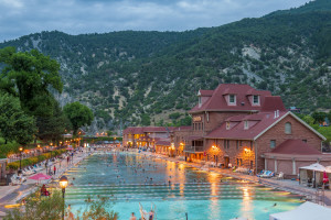 Hot springs at Glenwood Hot Springs.