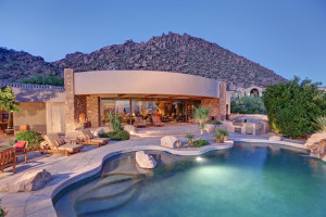 Vacation rental pool at SkyRun Vacation Rentals - Scottsdale, Arizona.