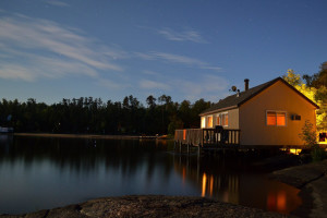 Cottage exterior at Big Whiteshell Lodge.