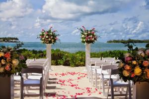 Wedding ceremony at Pier House Resort & Spa.