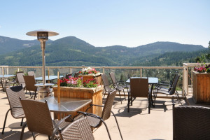 Patio at The Prestige Mountain Resort & Conference Centre.