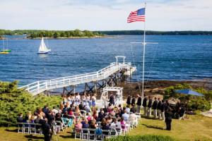 Wedding ceremony at Linekin Bay Resort.