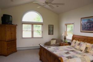 Guest bedroom at Seneca Springs Resort.