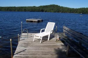 Lake dock at Highland Lake Resort.