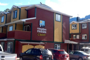 Exterior view of Canadian Rockies Chalets.