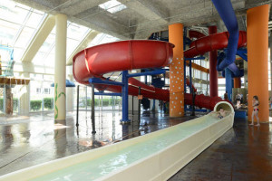 Resort water slides at MyrtleBeachVacationRentals.com.