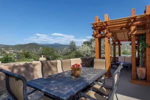 Rental patio at Two Casitas, Santa Fe Vacation Rentals.