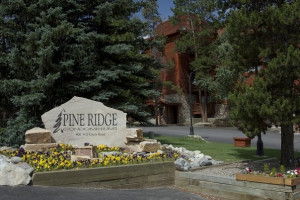 Exterior view of Pine Ridge Condominiums.