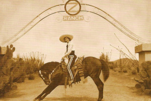 Historic photo of Circle Z Ranch.
