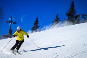 Skiing at Golden Eagle Lodge.
