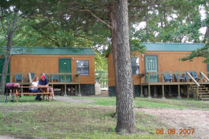 Cabin exterior at Big Mouth Lodge.