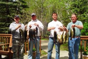 Fish caught off the lake at Black Pine Beach Resort.