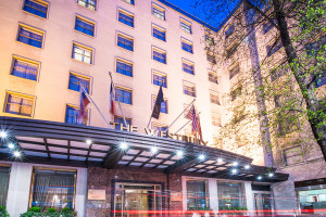 Exterior view of Westbury Hotel.