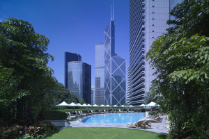 Outdoor pool at Island Shangri-La-Hong Kong.