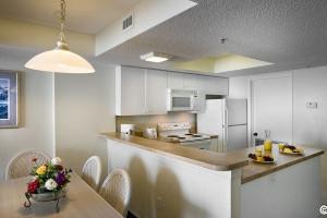 Guest kitchen at Sea Watch Resort.