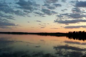Sunset at Eagle Ridge Resort.