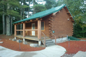 Cabin exterior at The New England Inn & Lodge.