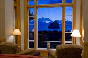 View from room at Inn at Cape Kiwanda.