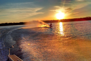 Water skiing at Sandy Pines Resort.