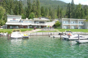 Exterior view of Many Springs Flathead Lake Resort.