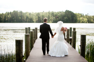 Wedding couple at Heartwood Conference Center & Retreat.