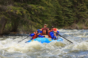 White water rafting at Three Rivers Resort.