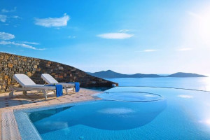 Outdoor pool at Elounda Gulf Villas & Suites.