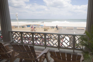 Porch view at Harrison Hall Hotel Ocean City.
