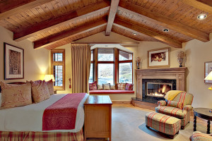 Guest bedroom at The Lodge At Vail.