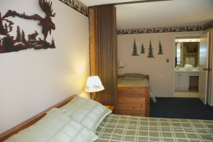 Guest room at Black Bear Lodge.