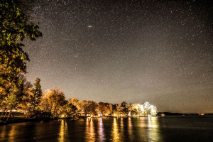 Star sky at Ruttger's Bay Lake Lodge.