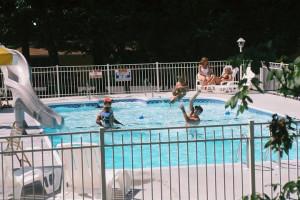 Outdoor pool at Golden Arrow Resort.
