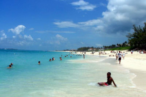 Swimming Fun at Paradise Island Beach Club