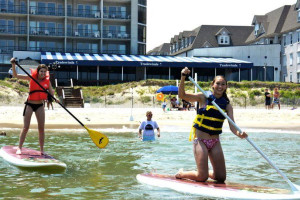 Beach activities at Virginia Beach Resort Hotel.