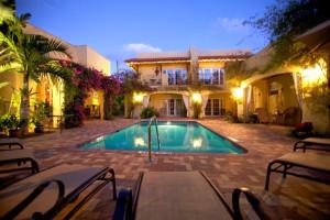 Outdoor pool at Grandview Gardens Bed & Breakfast.