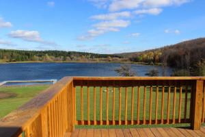 Balcony view at The Woods At Bear Creek Glamping Resort.