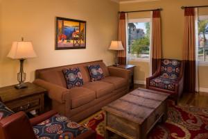 Guest living room at El Cordova Hotel.