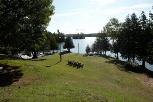 Lake view at Fernleigh Lodge.