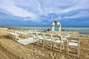Wedding on the beach at The Reach Resort.