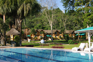 Exterior view of Misahualli Jungle Hotel.